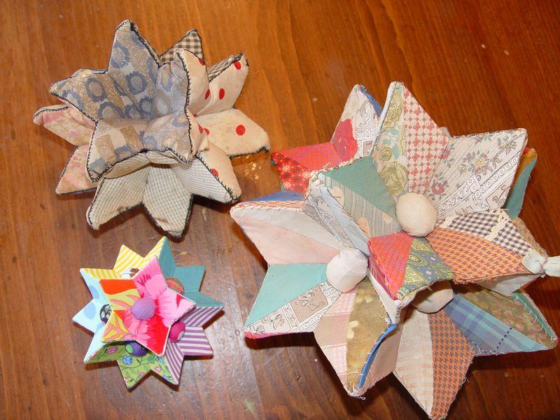 Fabric stars - 3