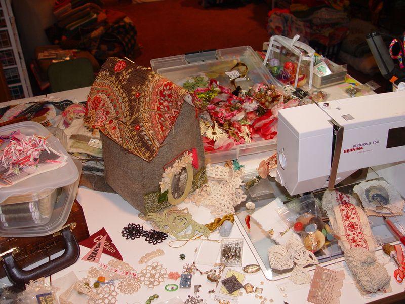 C. sew table