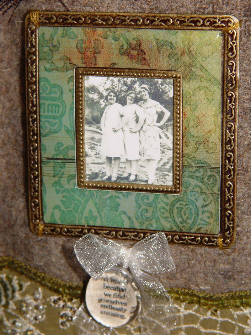 C. green frame
