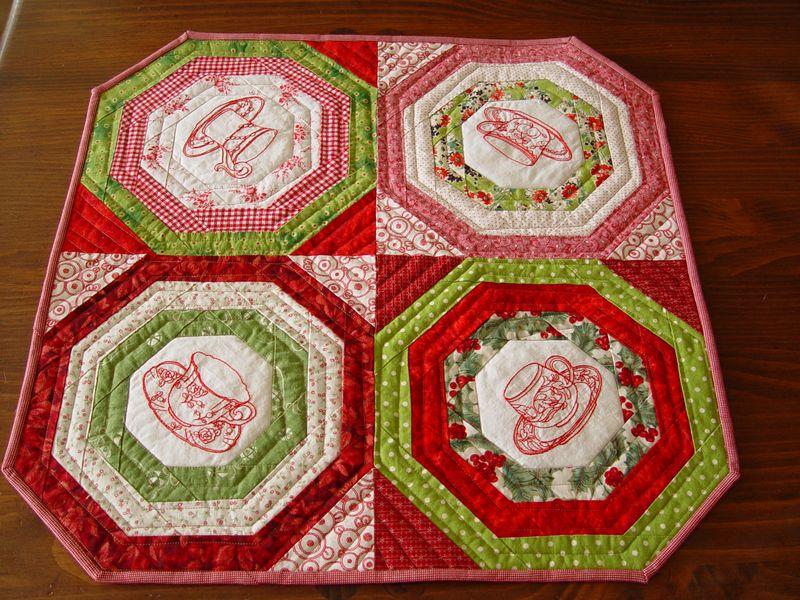 CHristmas tea quilt