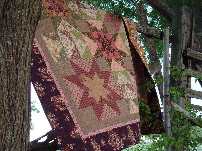 Blended star quilt