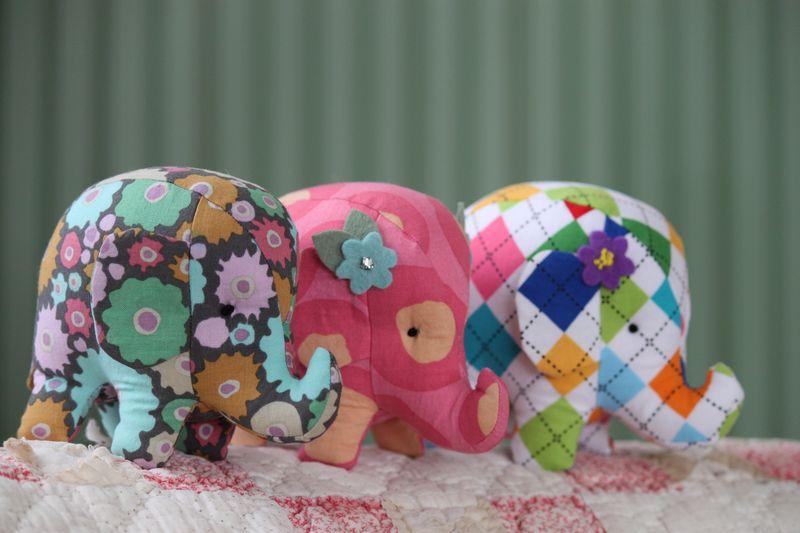 Elephant pincushions
