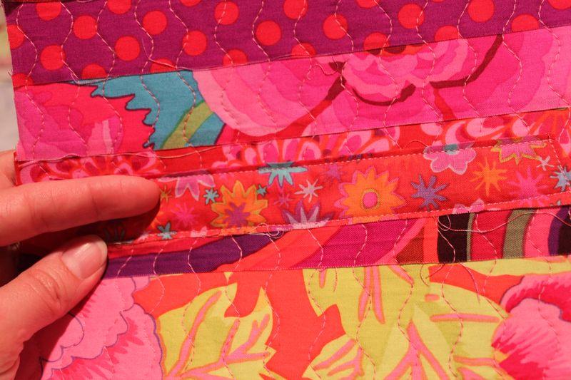 Cuff pink strip patch