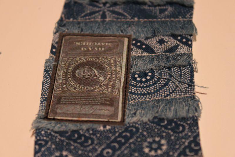 Cuff blue patch